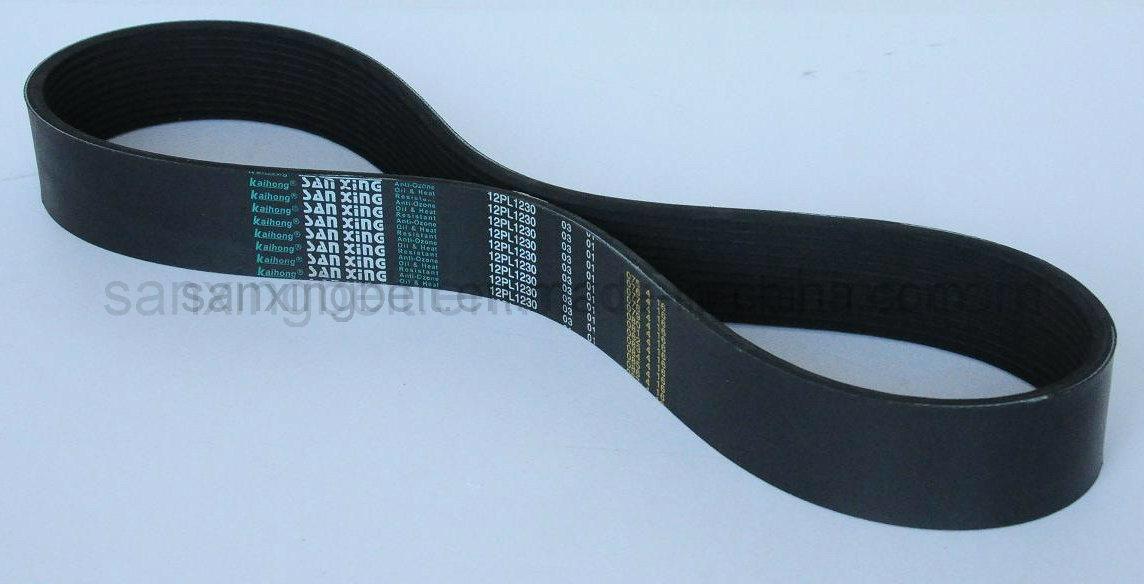 High Quality Industrial Rubber Poly V Belt / Ribbed Belt