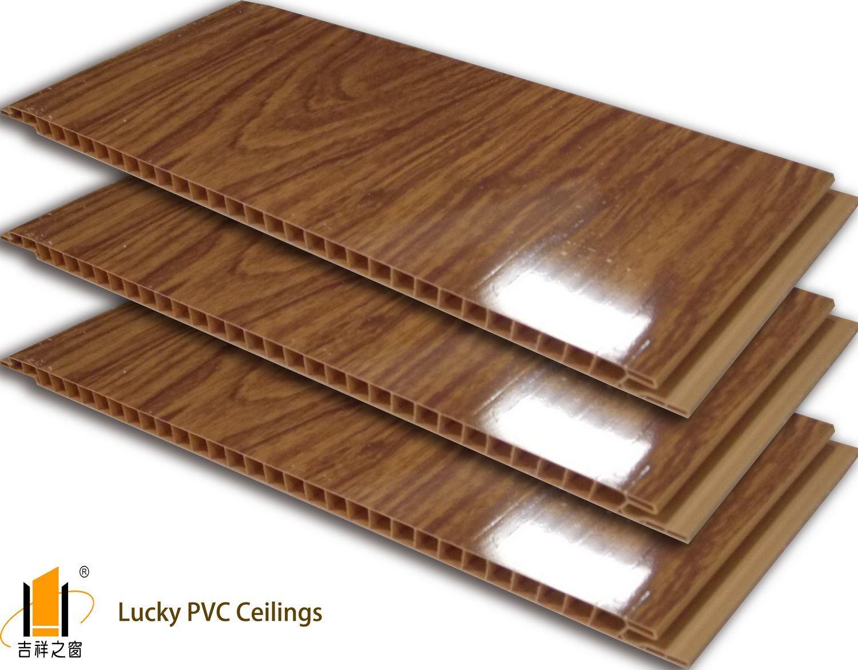 de madeira do PVC de Brown com superfície do destaque –Painéis de  #CB7800 1500x1171