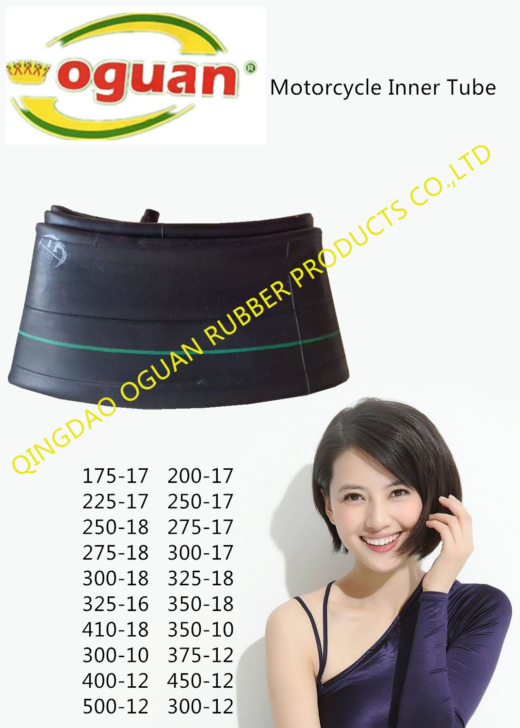 High Quality Ultra High Tightness Motorcycle Butyl Rubber Inner Tube