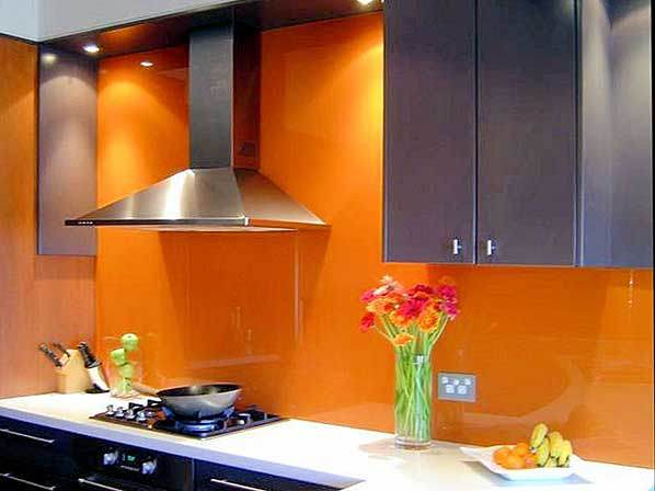 Ral2010 Orange Back Painted Glass/Lacquered Glass for Internal Use