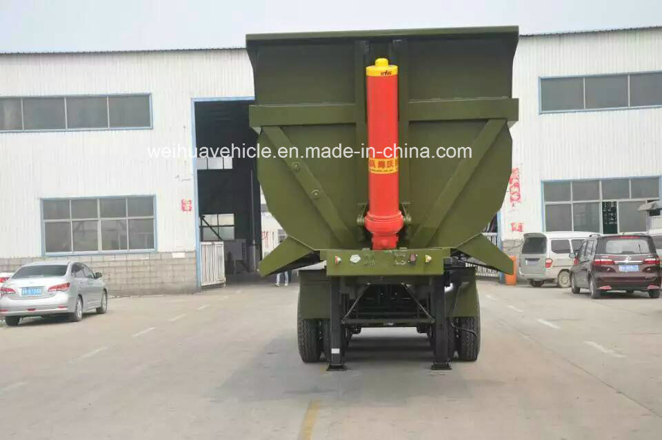 40t Rear Dump Truck Trailer, Tipper Semi Trailer From Manufacture