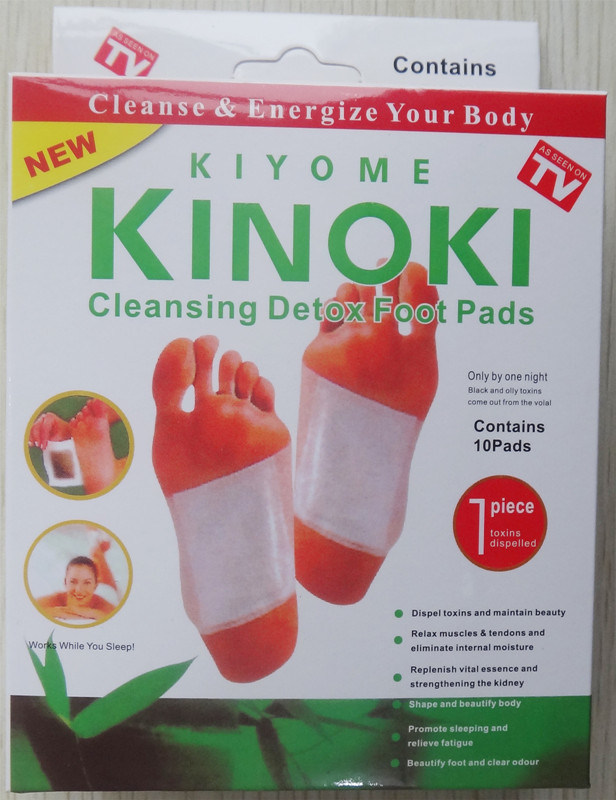 Kiyome Kinpki Detox Foot Pads Ginger Salt Constipation Treatment Detox Foot Patch