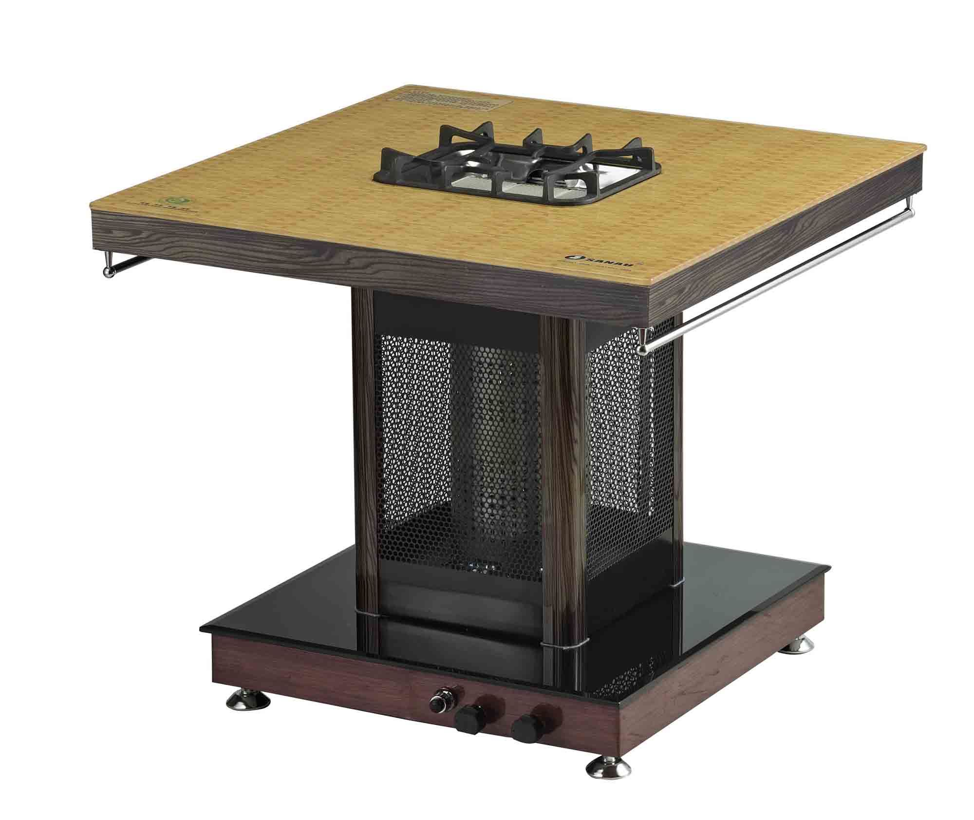 Ceramic Gas Grill with Gas Foot Heater and Stand Table