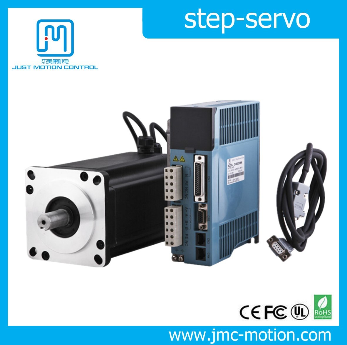80-220VAC 2 Phase NEMA 34 Closed Loop Step-Servo Motor and Driver 2HSS1108h