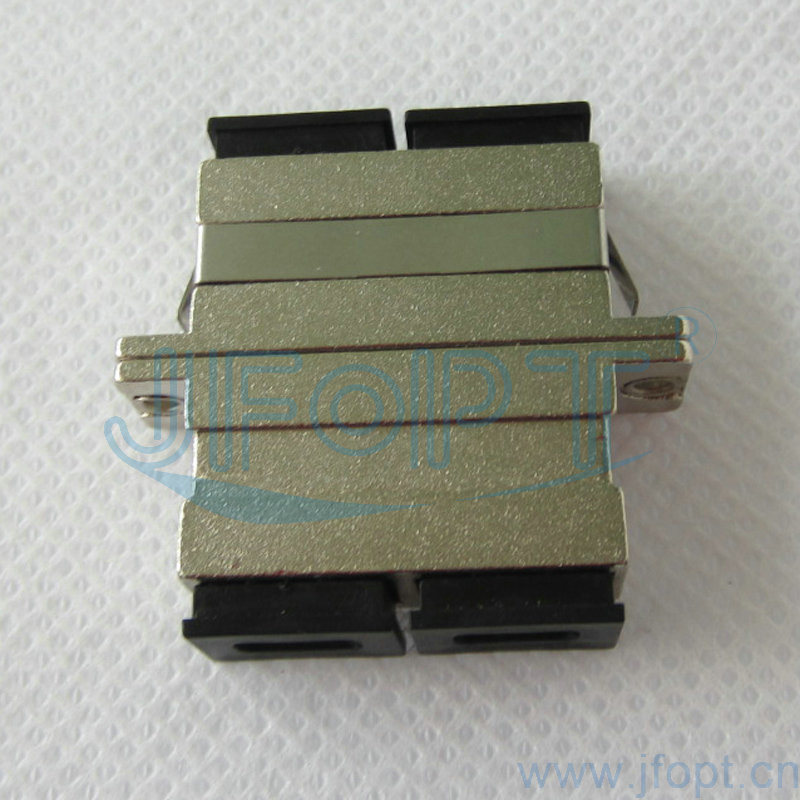 Duplex Fiber Optic SC/PC Adapter with Metal Housing