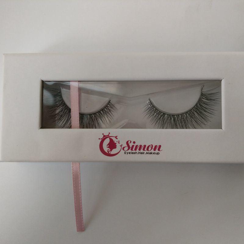 Hot Sale 100% Handmade Siberian Mink False Eyelashes with Custom Packaging