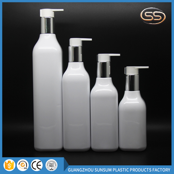 Plastic and Aluminum Color Airless Bottle for Square Cosmetic Packaging