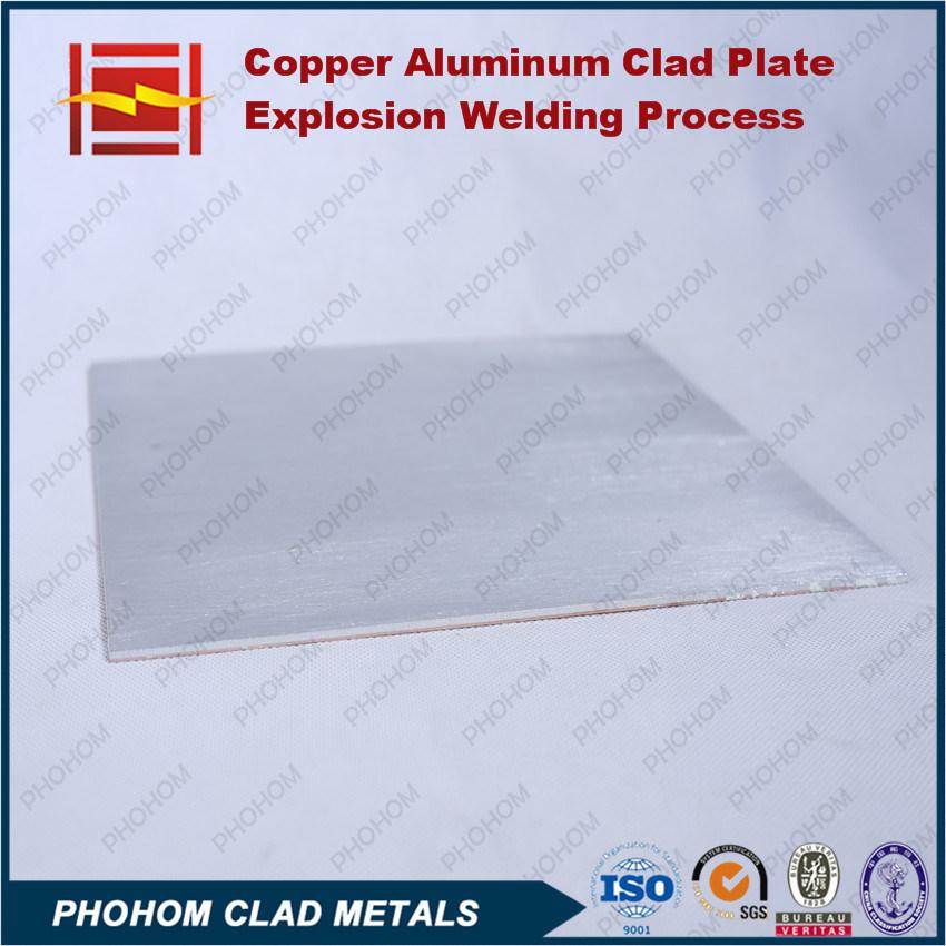Explosion Bonding Copper T2 Aluminium Clad Plate