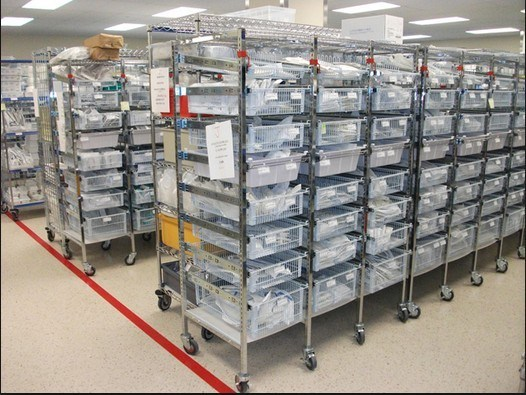 NSF 6 Tiers Chrome Metal Wire Shelving Rack for Hospital&Drugstore