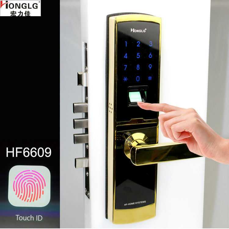 Cheap Biometric Fingerprint Security Digital Door Lock (HF6609)