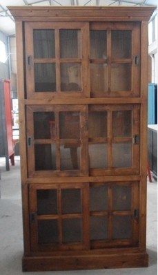 Chinese Glass Cabinet Slide Door (LWA536)