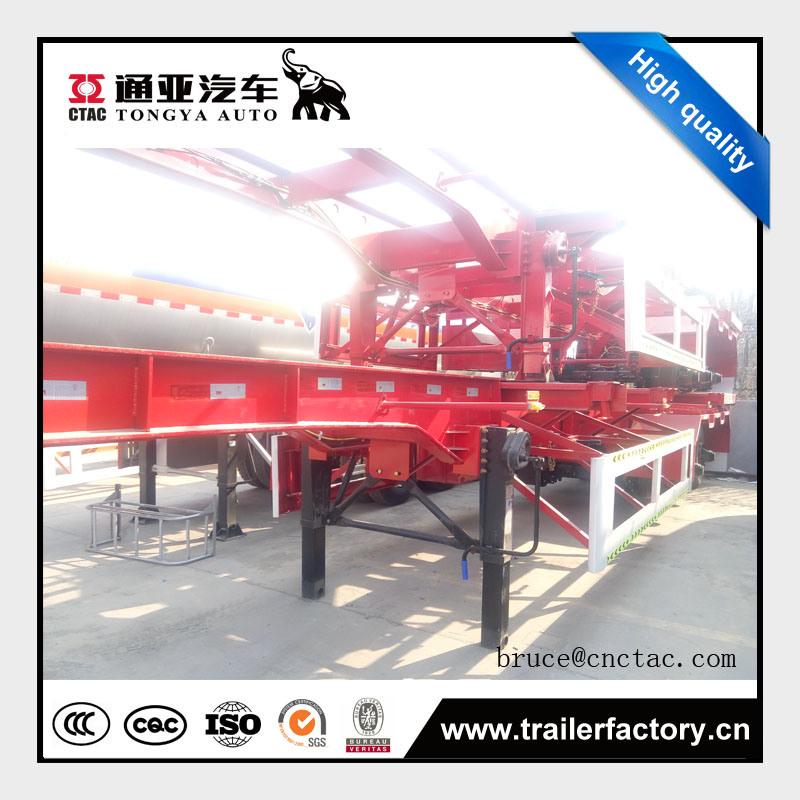 Tongya Hot Sale Tri Axles Skeletal Semitrailer Price