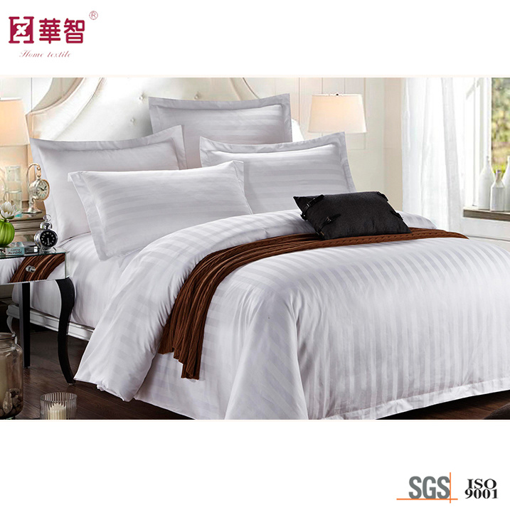 Sateen Stripe 3 Star Hotel Bedding Sets