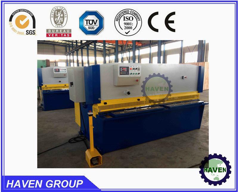 CNC guillotine shearing machine, hydraulic swing beam shear