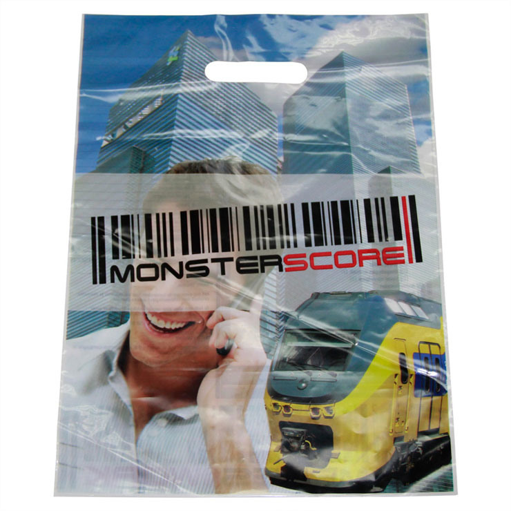 Stand up HDPE Die Cut Carrier Plastic Bags for Accessories (FLD-8550)