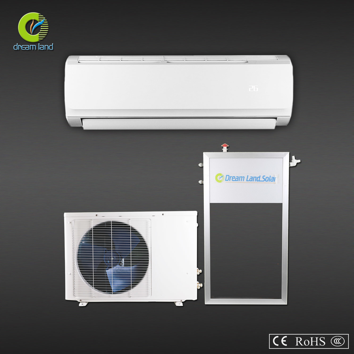 Solar Air Conditioner with Solar Panel China