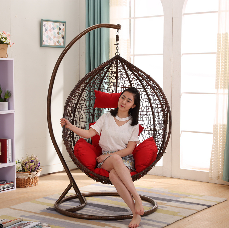 Popular Cheap Price Rattan Swing Chair Rattan Hanging Egg Chair (D011B)