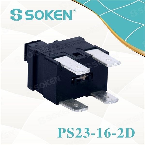 Soken Rectangular Push Button Reset Switch PS23-16-2D 2 Pole