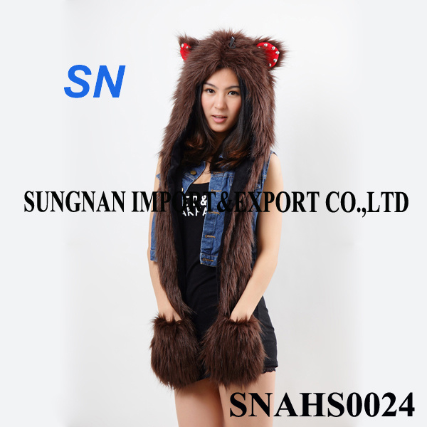 Fashion Winter Long Animal Hat for Women Girls and Ladies