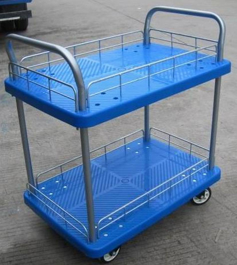 2-Layer L Handcart for Storage Use