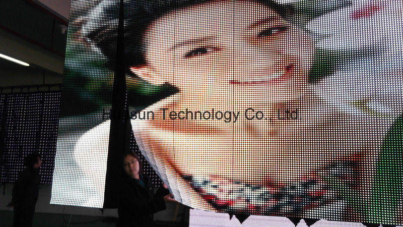 Soft LED Video Curtain Display for Rental