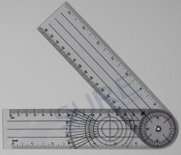 Various Plastic Promotional Medical Goniometers Ruler with Good Quality
