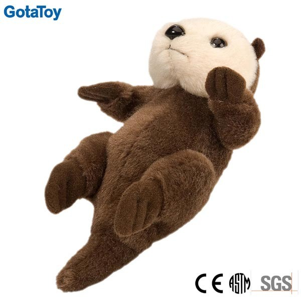 High Quality Custom Stuffed Animal Plush Sea Otter Soft Toy