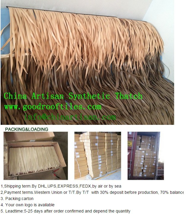 Synthetic Thatch Roof for Resort