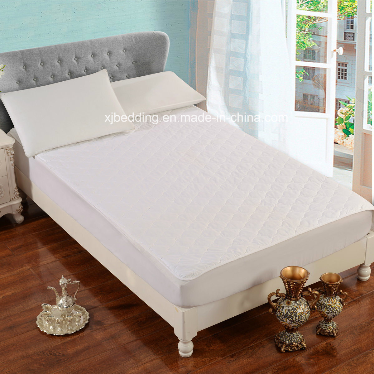 Multi-Needle Quilted Cotton Twin Mattress Protector
