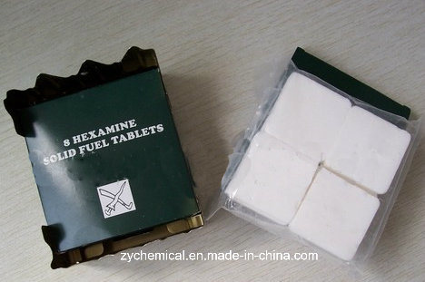 Urotropine, Hexamine, Solid Fuel Tablet, Cooking Fuel, Smokeless and Tasteless Flammable with Colorless Flame