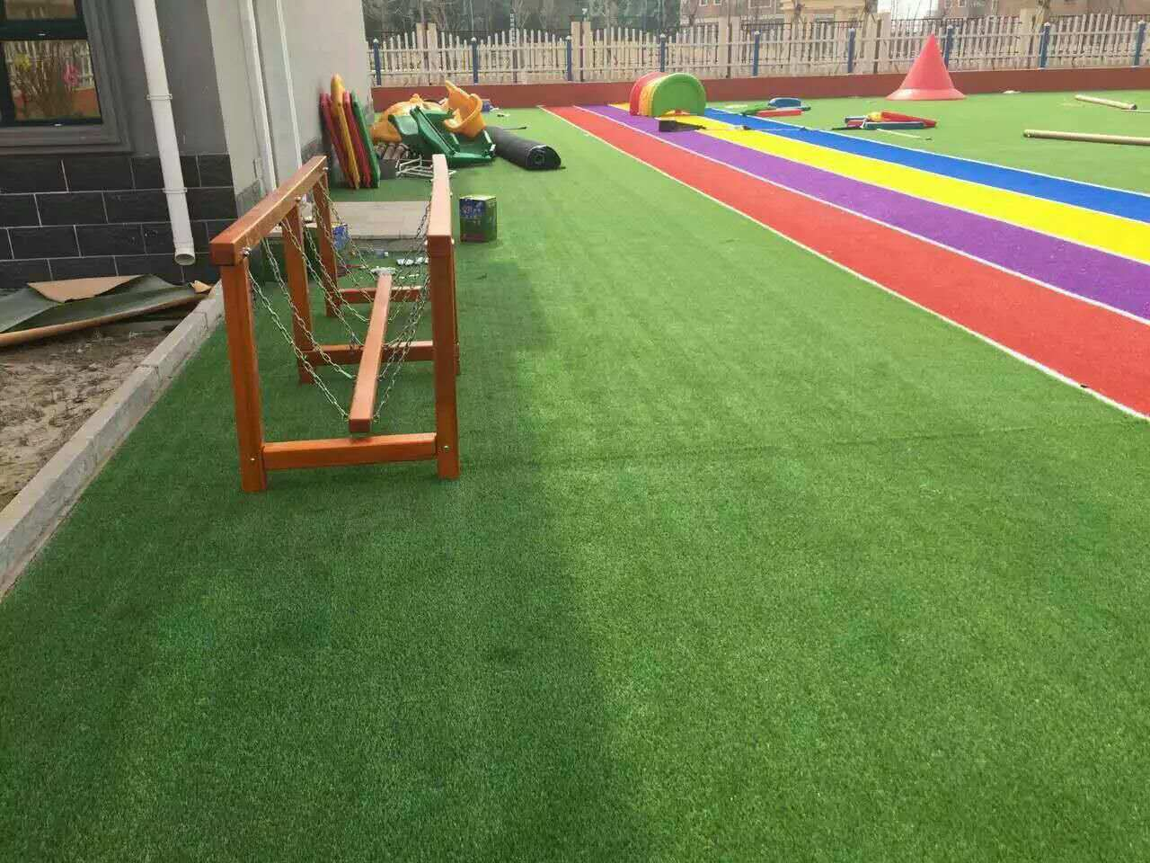 3 Color PE+PP Artificial Grass Wy-5 for Playgroud