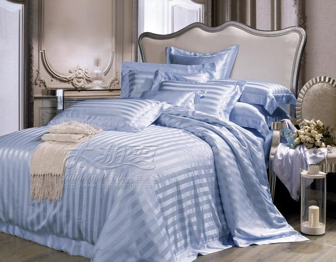 Luxury King Bed Size Fitted Flat Sheet Pillowcase Set
