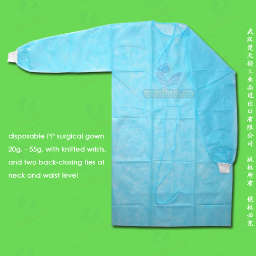 Disposable PE, PP+PE, CPE, SMS, PP Surgical Gown