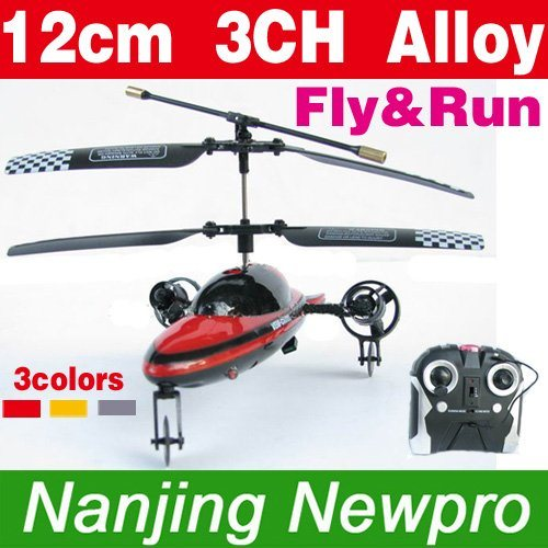 12cm 3ch rc fly amp  run helicopter with flashy front light 3 selectable bands