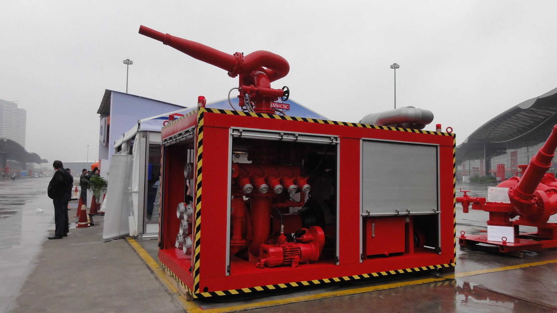 Marine Half Containerized 1800m3/H Fire Fighting Fifi System