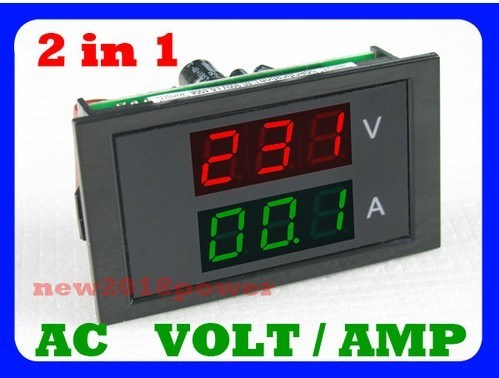 ac100 300v ac 0 100a led volt amp meter voltage meter. Black Bedroom Furniture Sets. Home Design Ideas