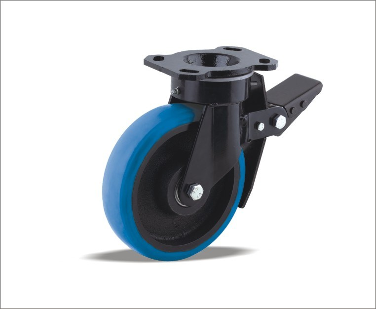 Swivel Caster With Polyurethane Wheel With Iron Center