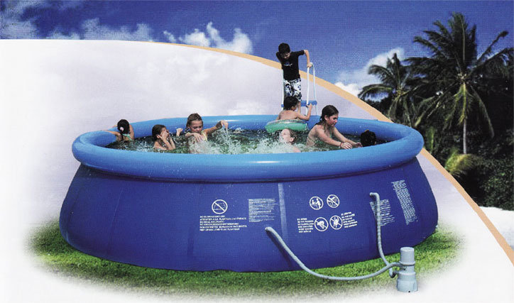 China frameless self supporting swimming pool china pool for Self sustaining pool