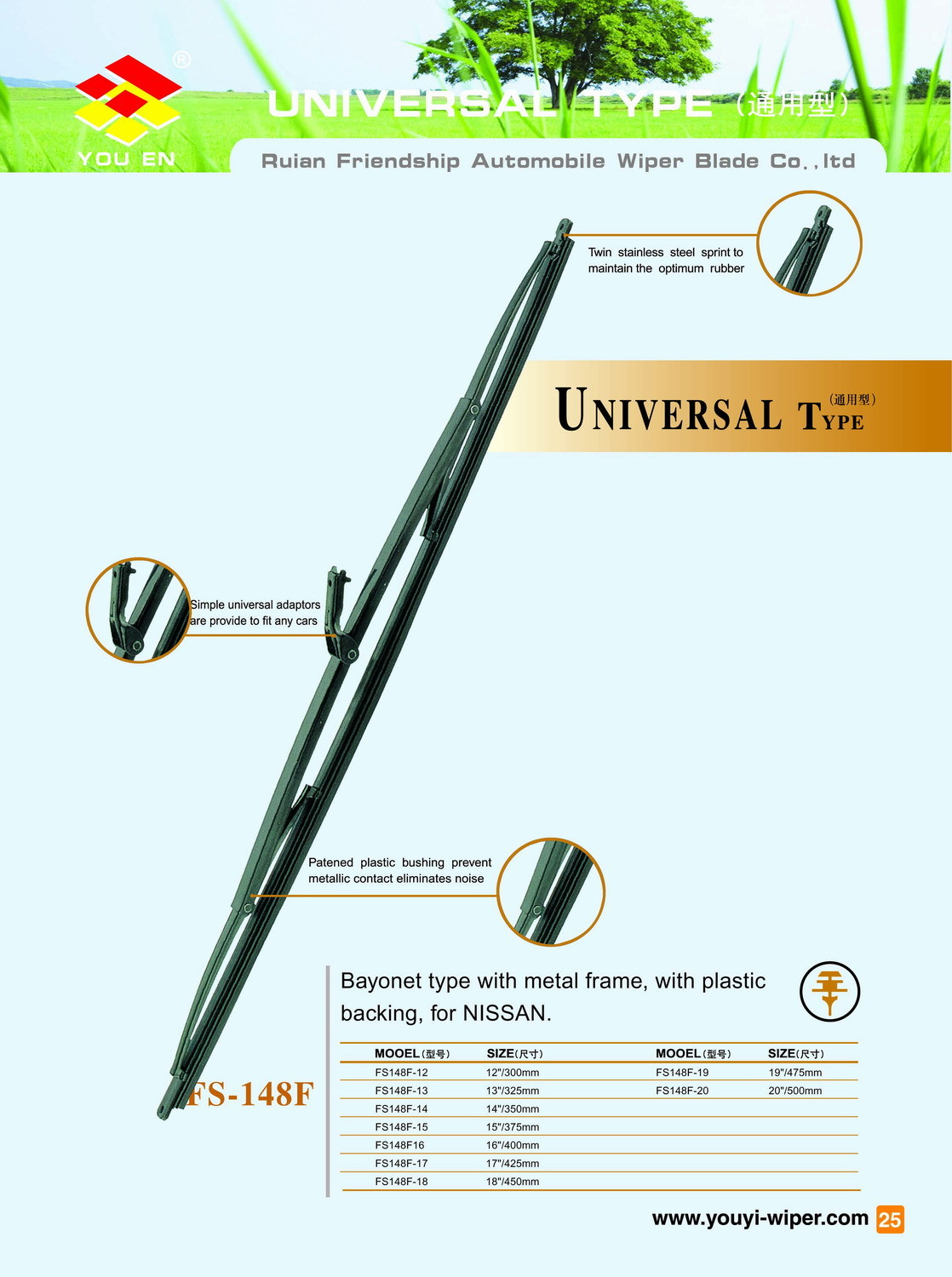 Auto Parts of Metal Wiper Blade