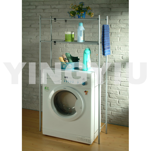 Extendable Washing Machine Rack (Powder-Coated In Silver) (YW-X419FY