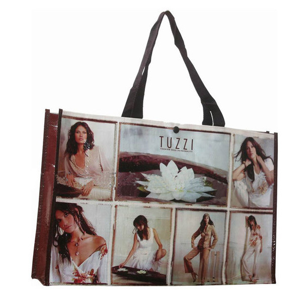 Promotional Shopping Handle Laminated PP Woven Bag