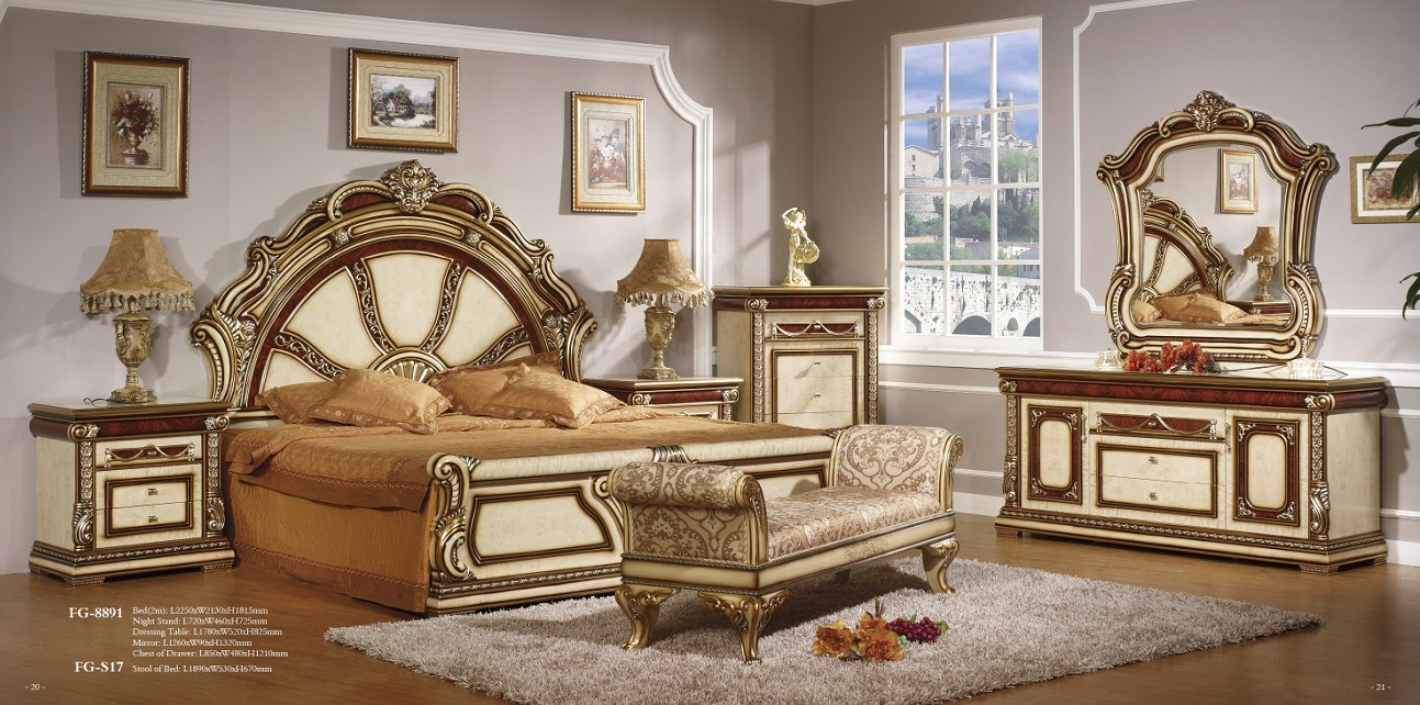 Style Bedroom Set Furniture FG 8891 China Furniture Bedroom Set