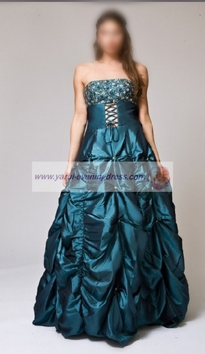 Prom Dark Teal Ball Gown YR8086