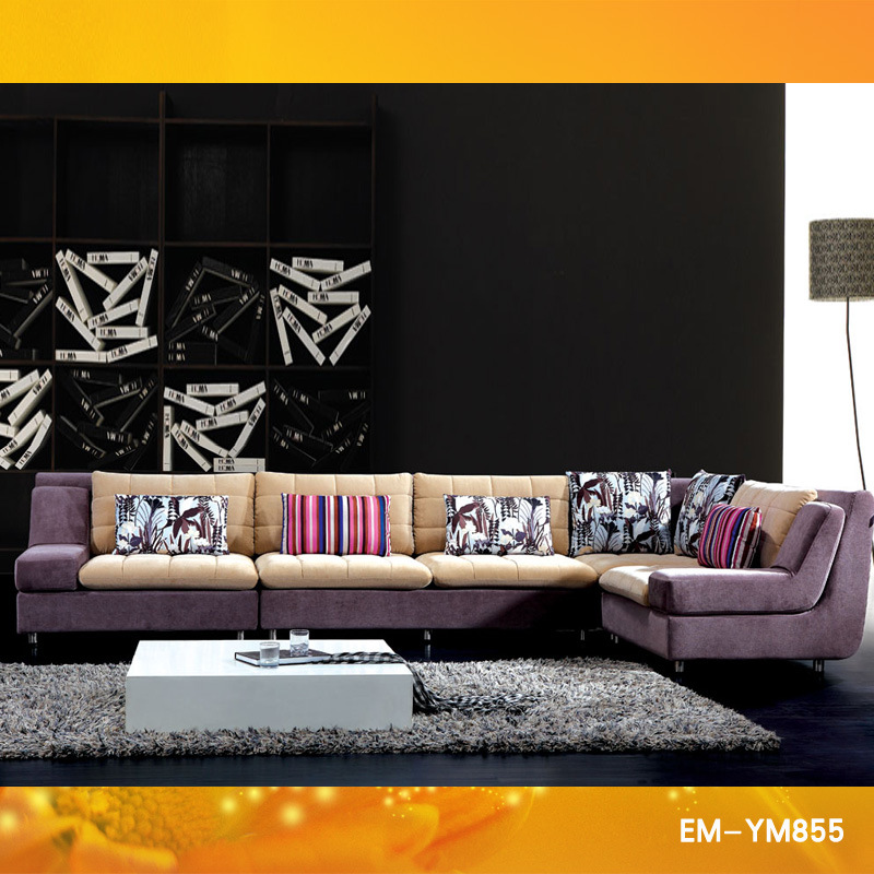 China 2011 Fashion Fabric Sofa Set Designs YM 855 Photos