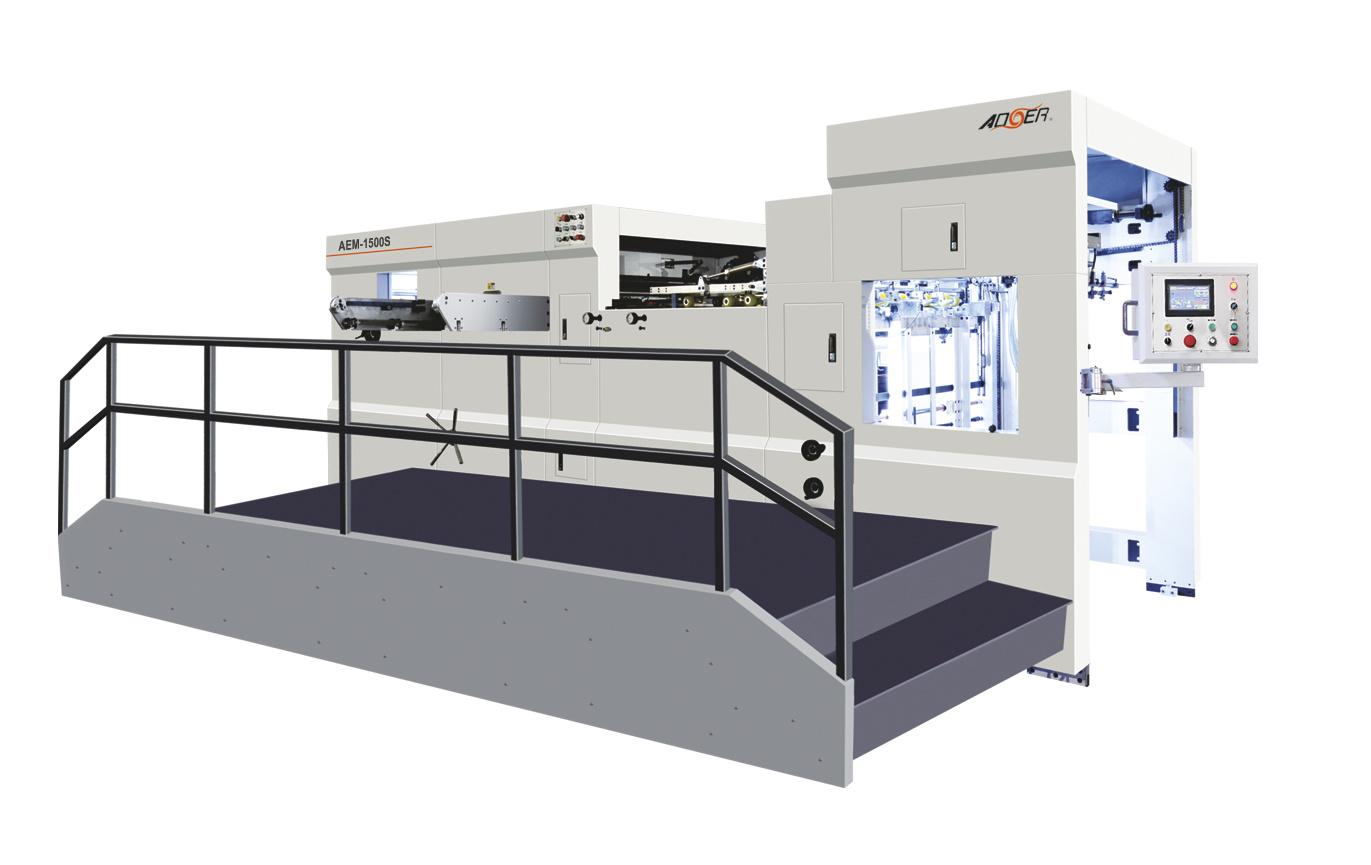 AEM-1500QS Manual Automatic Dual Purpose Die Cutting Machine with Waste Stripping