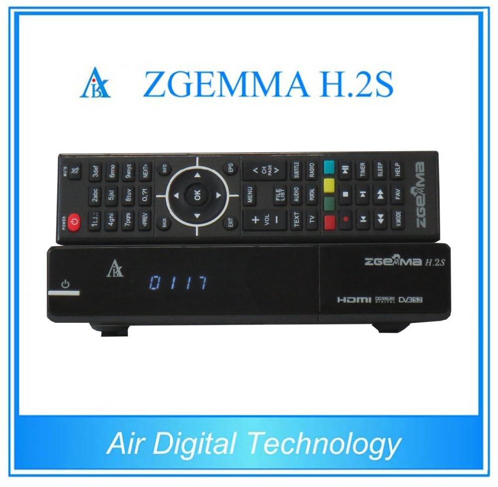 Original Zgemma H. 2s Twin Tuner DVB-S/S2 Linux HD Satellite Receiver