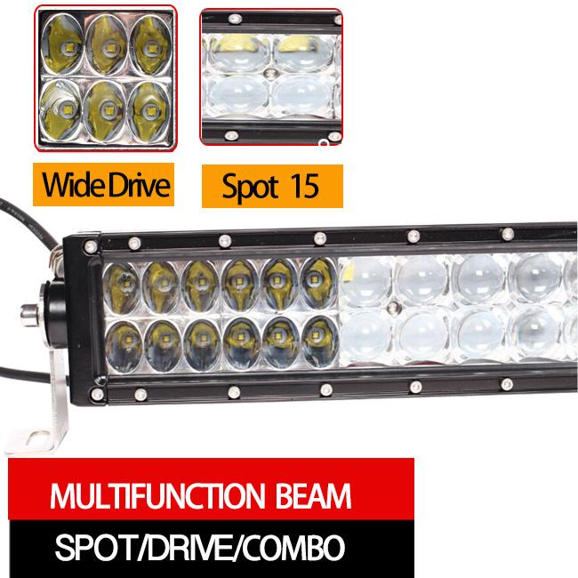 72W LED Work Light Bar (12.5inch, 5500lm, Waterproof IP68)