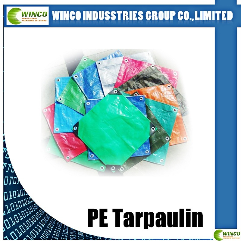 160GSM Tarp PE Tarpaulin with UV Treated PE Tarps for Car /Truck / Boat Cover