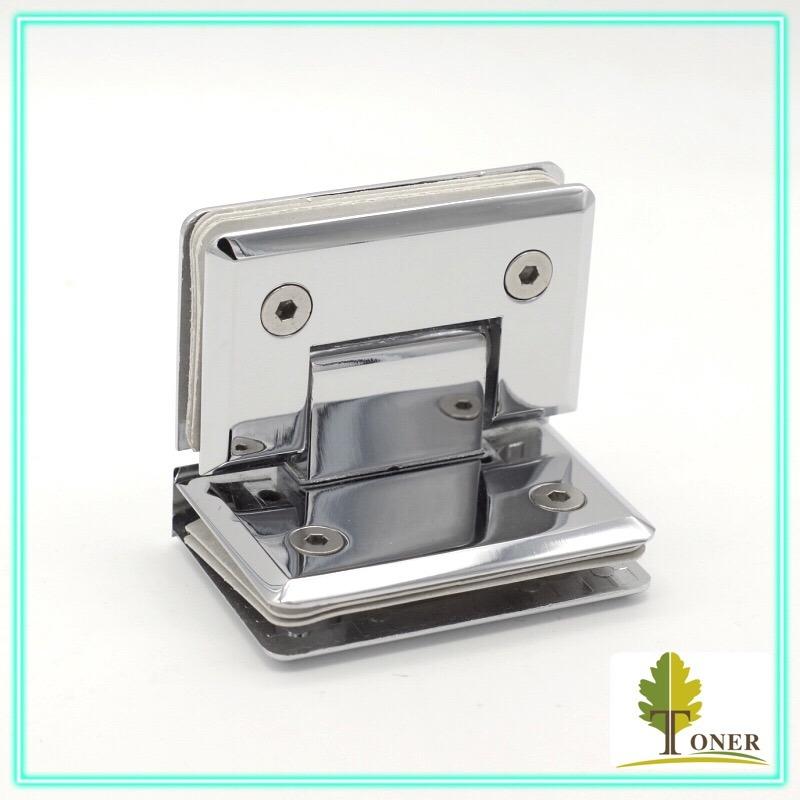 Square Bevel Edge 90 Degree Glass to Glass Hinge/ Zinc Hinge