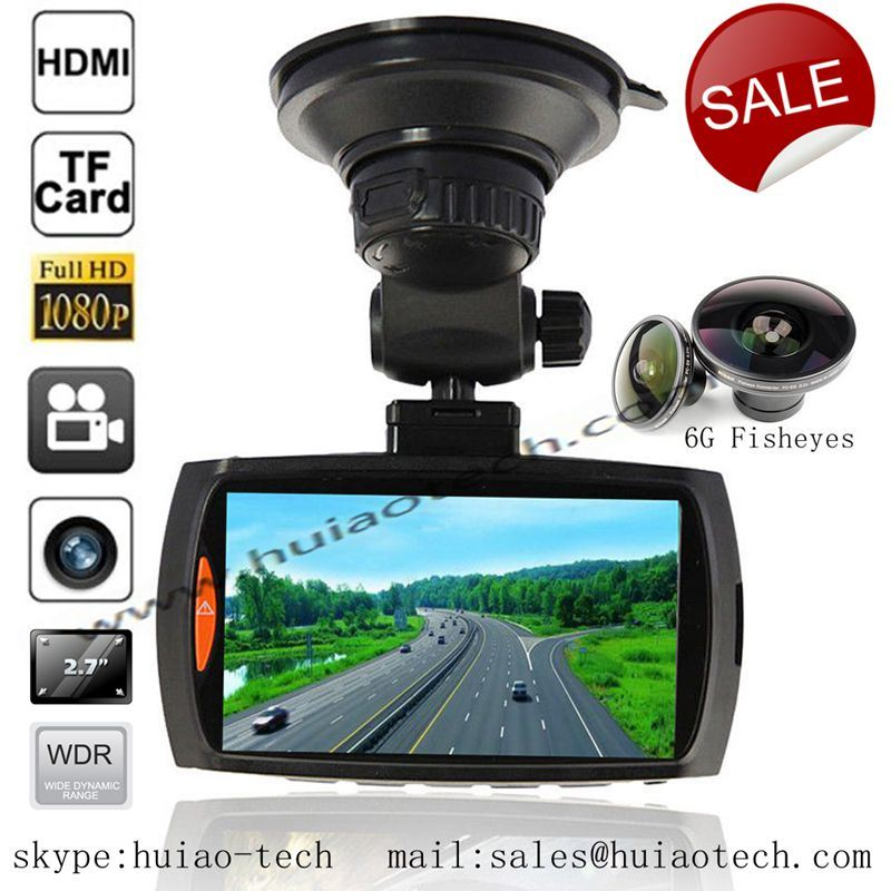 "Hot 2.7"" Full HD 1080P Car Video Camcorder with HDMI out, AV-out Function Car DVR-2710"